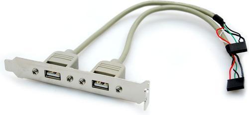 GNIAZDO USB 2 szt. NA ŚLEDZIU