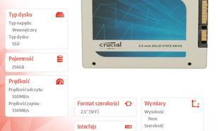 Crucial MX100 256GB SATA3 2.5 550/330 MB/s 7mm