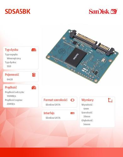 SanDisk SSD slimSATA MLC 64GB