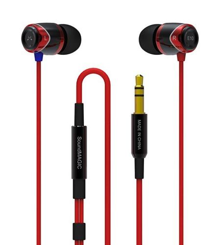 SoundMAGIC E10M Black Red Słuchawki z pilotem i mikrofonem iPhone, Galaxy S