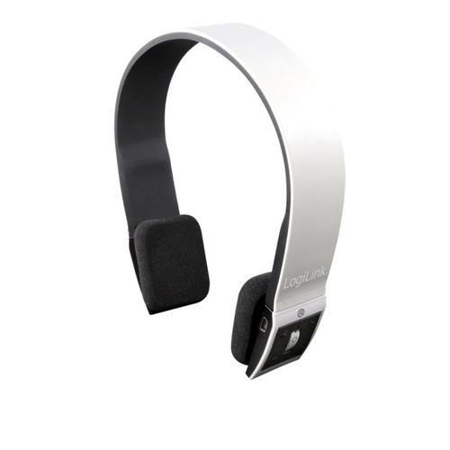 LogiLink Zestaw słuchawkowy z mikr. na Bluetooth,biały