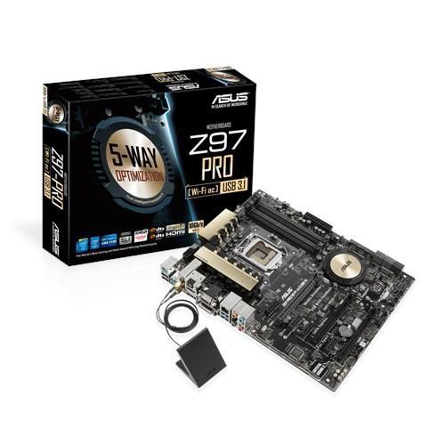 Asus Z97-PRO(Wi-FiAc)USB 3.1 s1150 Z97 4DDR3 USB3.1 ATX