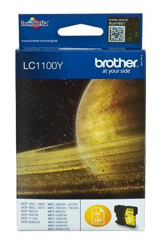 BROTHER Tusz Żółty LC1100Y=LC-1100Y, 325 str.