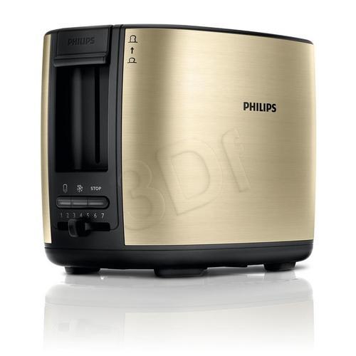 Toster Philips HD2628/50 (950W/Czarno-szampański)