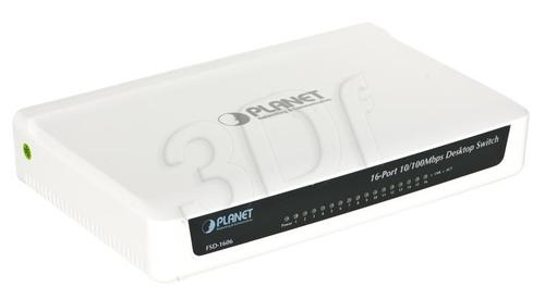 PLANET FSD-1606 Switch 16x 10/100mbps plastik obud.