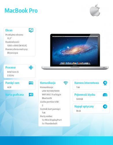 Apple MacBook Pro 13' MD101 13/2.5GHz/4GB/500GB