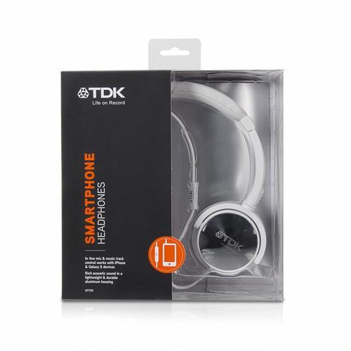 TDK Słuchawki z mikrofonem i pilotem ST170 białe