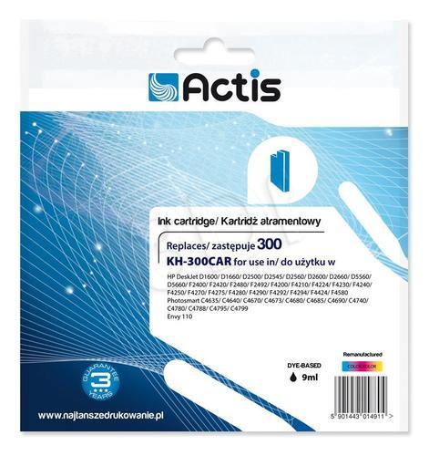 Actis KH-300CAR tusz trójkolorowy do drukarki HP (zamiennik HP 300 CC643EE) Standard
