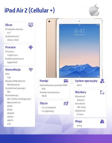 Apple iPad Air 2 16GB Wi-Fi Cell Gold MH1C2FD/A