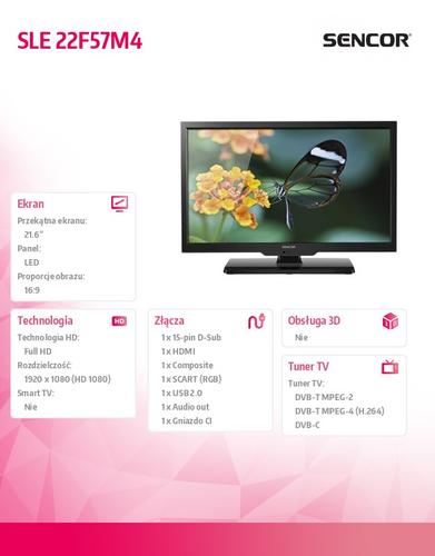 SENCOR 22'' SLE 22F53M4 FULL HD