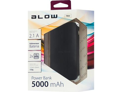 Blow Power Bank 5000mAh 2xUSB Czarny (Black)