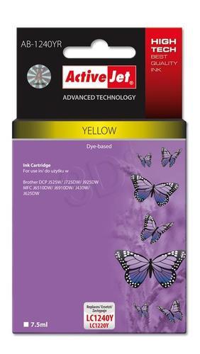 ActiveJet AB-1240YR tusz żółty do drukarki Brother (zamiennik Brother LC1240Y, LC1220Y) Premium
