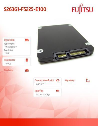 Fujitsu SSD SATA 6G 100GB HP 2,5 S26361-F5225-E100