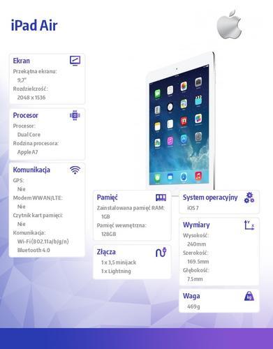 Apple IPAD WI-FI 128GB SILVER ME906FD/A AIR