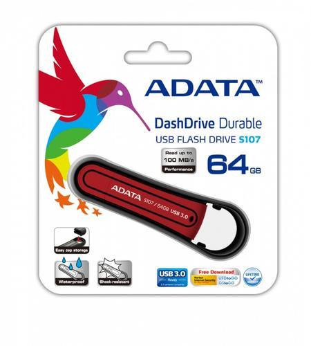 A-Data DashDrive Durable S107 64GB USB3.0 Red