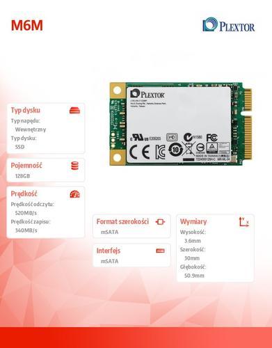 Plextor SSD 128GB mSATA M6M PX-128M6M