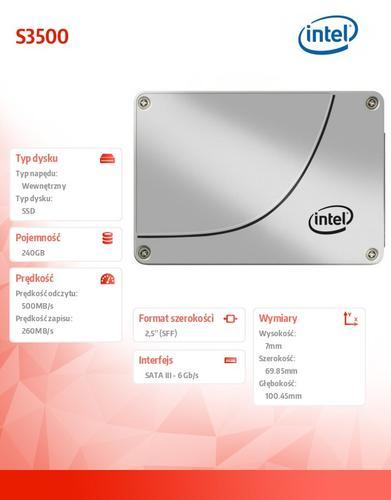 Intel S3500 240GB SATA3 2,5' 500/260 MB/s