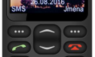 Aligator GPS Senior Dual SIM Czarny (A880)