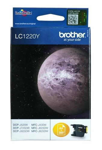 BROTHER Tusz Żółty LC1220Y=LC-1220Y, 300 str.