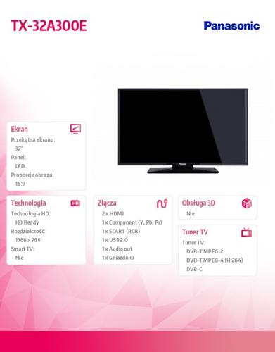 Panasonic 32''LED TX-32A300E