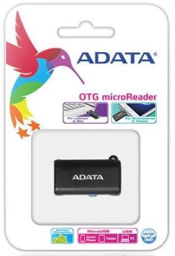 A-Data USB OTG MICROSD CARD READER BLACK
