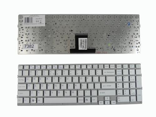 Qoltec Klawiatura do notebooka SONY VPC-EB WHITE