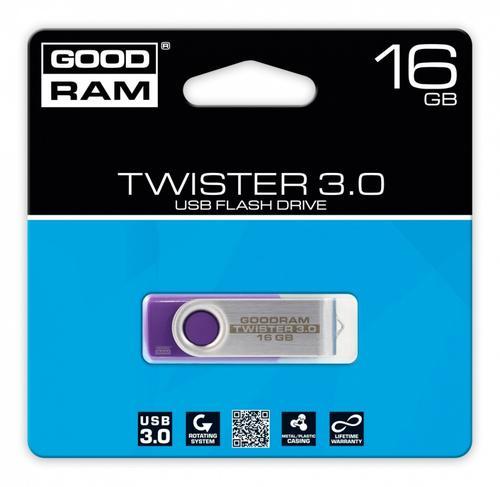 GoodRam TWISTER PURPLE 16GB USB3.0