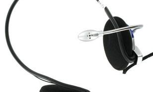 4World Słuchawki z mikrofonem potyliczne z regulacją głośności 02993