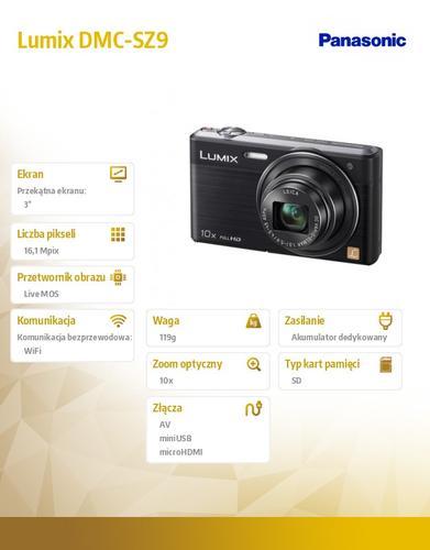 Panasonic Lumix DMC-SZ9 black