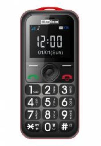 Maxcom MM 560 BB Poliphone/Big button czarno czerwony (MAXCOMMM560BBRED)