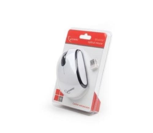 GEMBIRD Mysz bezprzewodowa Radio-Opto 2.4GHz MUSW-105 Black/White
