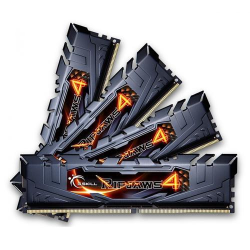 G.SKILL DDR4 32GB (4x8GB) Ripjaws4 2666MHz CL15 XMP2 Black