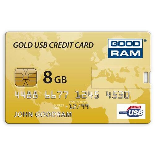 GoodRam Złota Karta Kredytowa 8GB USB 2.0