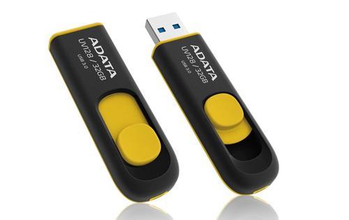 A-Data DashDrive UV128 32GB USB3.0 czarno - żółty 40MB / 25MB