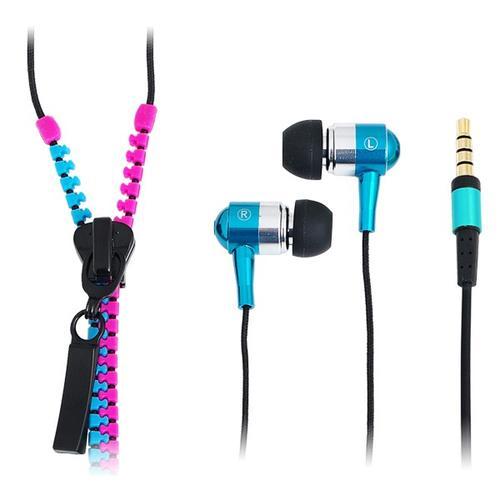 LogiLink Słuchawki z mikrofonem, stereo, 'Zipper' niebieskie