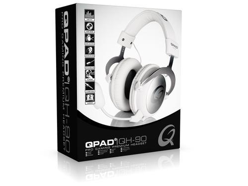QPAD QH-90 Białe Słuchawki dla graczy