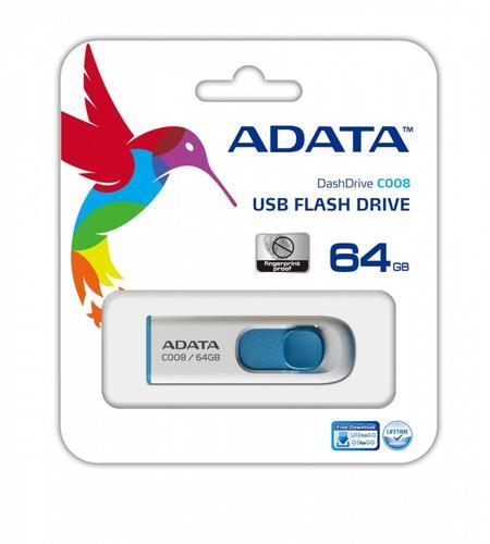 A-Data Dashdrive C008 64GB USB White-Blue