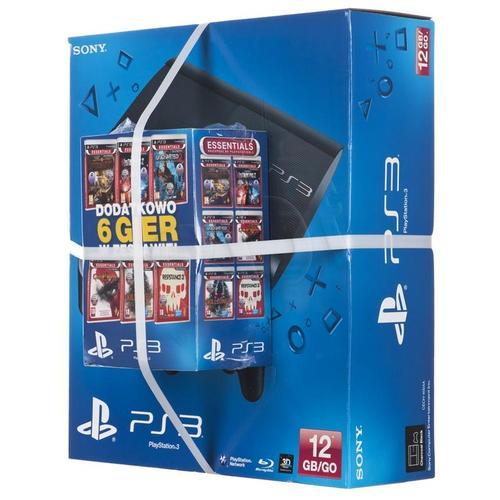 PS3 12GB + dodatkowy DualShock 3 + 6 gier