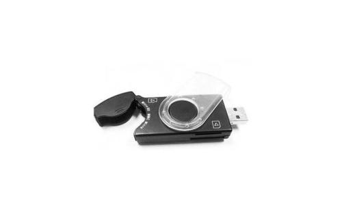 Gembird PenDrive SIM/SD/MMC/MS Black USB 2.0