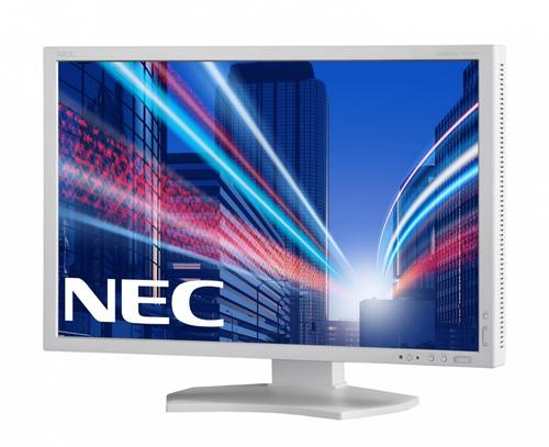 "NEC 24"" LED PA242W-SV2 display port, HDMI, Bialy"