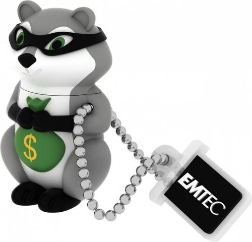 EMTEC Pendrive 8GB Gangster Raccoon The Animalitos