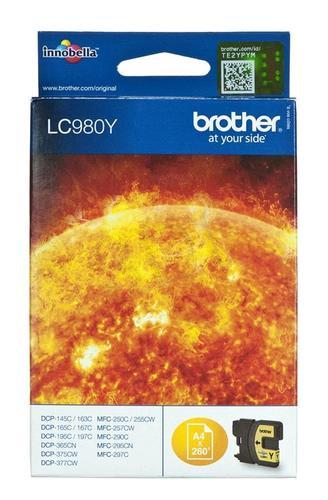 BROTHER Tusz Żółty LC980Y=LC-980Y, 260 str.