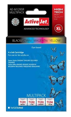 ActiveJet AE-M1295R multipack tusz czarny, cyan, magenta, żółty do drukarki Epson (zamiennik Epson T1295) Premium