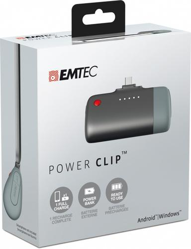 EMTEC Power Clip Bank microUSB 2600mAh Android/Windows