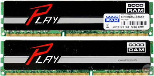 GoodRam DDR3 8GB/1600 (2*4GB) PLAY Black 9-9-9-28