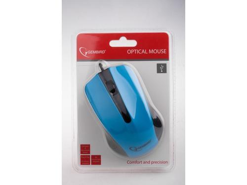 GEMBIRD Mysz OPTO 1-SCROLL USB (OPTO 1-SCROLL USB) Black/Blue
