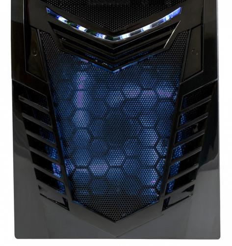 Modecom OBUDOWA KOMPUTEROWA VIKING BLACK/BLUE LED FAN Z ZASILACZEM CARBON 620W