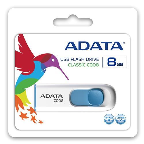 A-Data DashDrive Classic C008 8GB USB2.0 biało-niebieskie