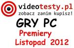 Premiery gier PC - Listopad 2012