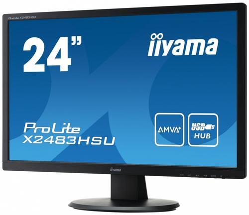 iiyama 24'' X2483HSU-B1 AMVA+ HDMI/DVI/USB/GLOS